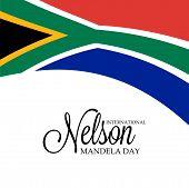 pic of nelson mandela  - Creative a beautiful greeting card for International Nelson Mandela Day - JPG