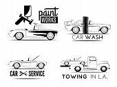 ������, ������: Set of car service labels
