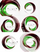 picture of slogan  -  green swirl line abstract background - JPG