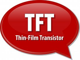 image of transistors  - Speech bubble illustration of information technology acronym abbreviation term definition TFT Thin Film Transistor - JPG