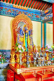 foto of lamas  - Interior view of Yonghegong Lama Temple - JPG