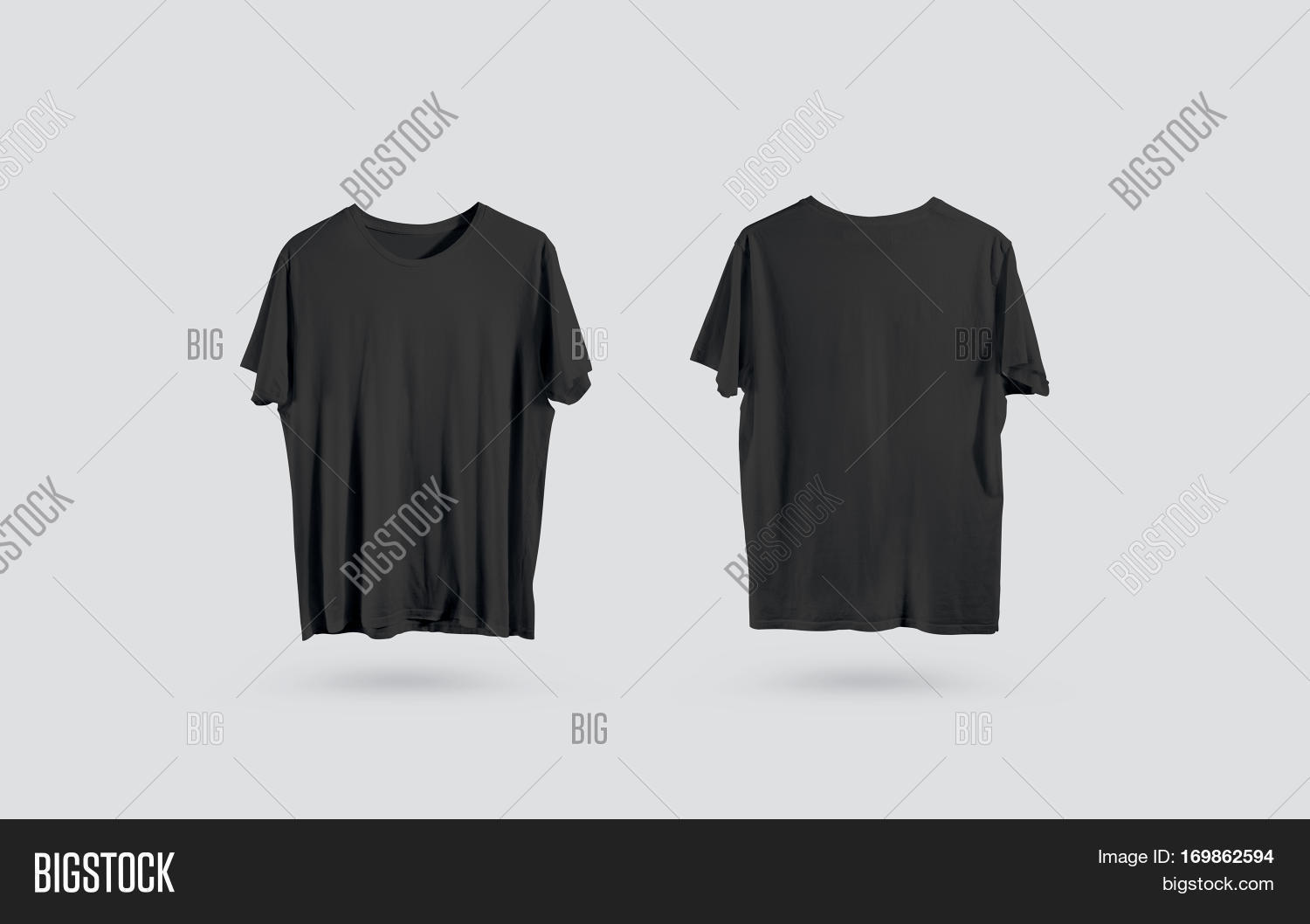 Black t shirt mock up - Blank Black T Shirt Front And Back Side View Design Mockup Clear Plain