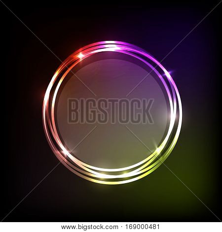 Colorful circles banner abstract background, stock vector