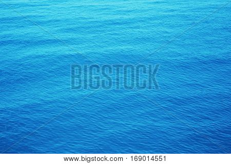Image of blue sea surface in Thailand