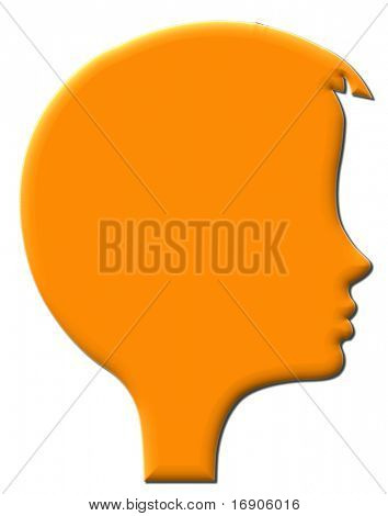 silhouette of the head of the girl