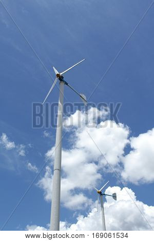 Image of wind power plant in Thailand, Asia