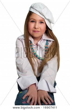 Blond Girl Wearing The Hat