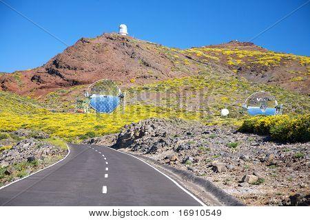 Road Next Observatories At La Palma