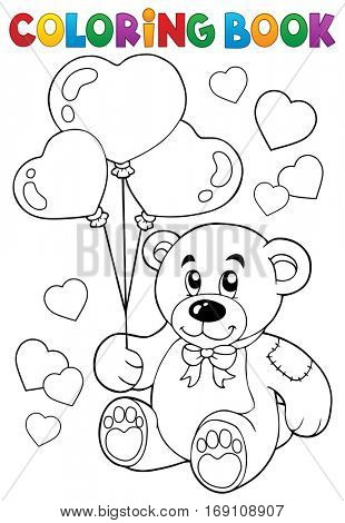 Coloring book Valentine theme 7 - eps10 vector illustration.