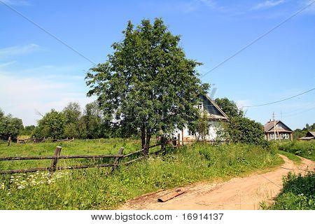 rural house near roads
