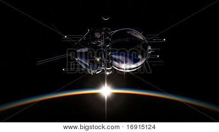 First spaceship on orbit