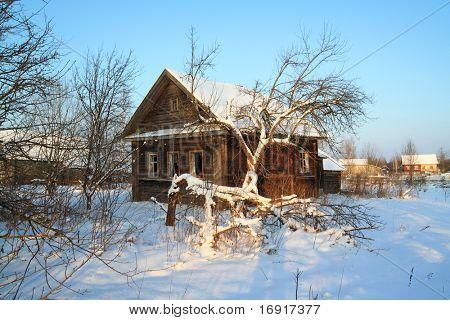casa rural en la nieve