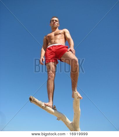 boy on the snag