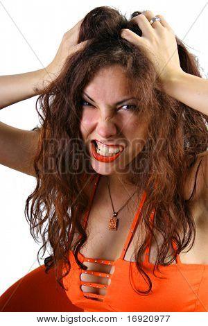funny screaming girl