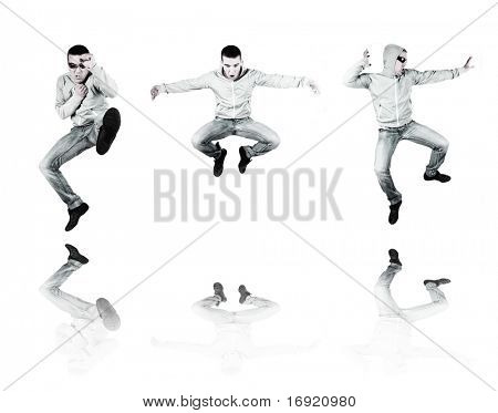 three fighters on white background