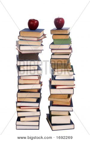 Two Piles Of Books