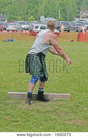 Shot Put At Scottish Games