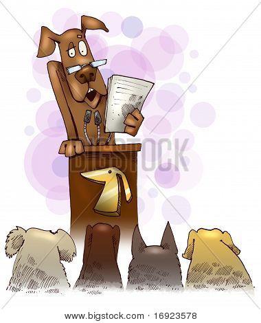 Dog Giving A Speech