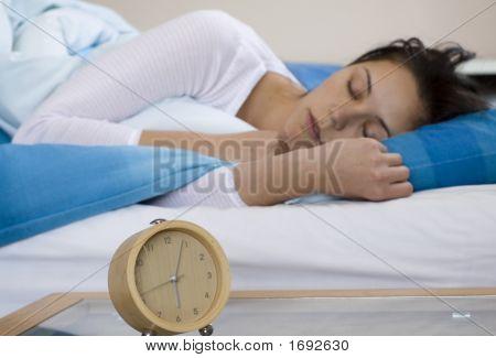 Woman Sleeing