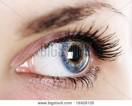 close-up woman's eye (shallow DoF)