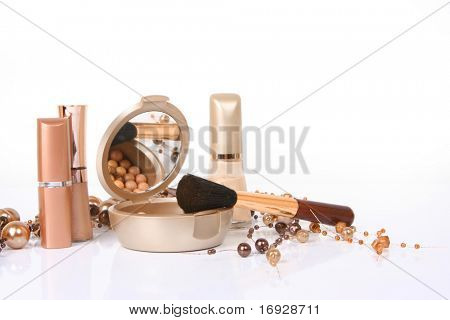 cosmetics isolated on white background