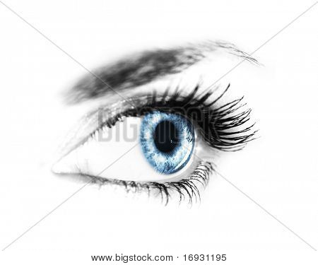 close-up of woman's eye (shallow DoF)