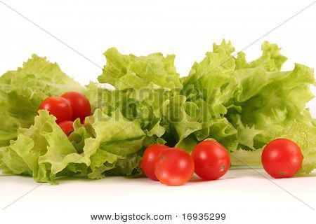 fresh bright vegetables isolated on white