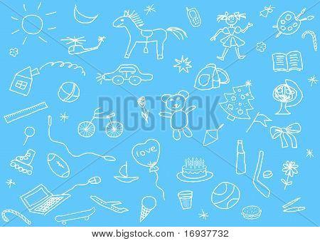 Kid's Drawings Set