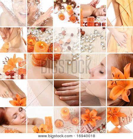healthy spa collage