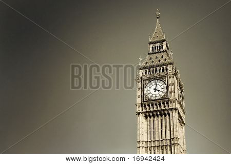 Big Ben, London (colored sepia)