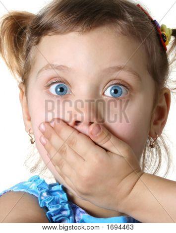 Chica sorprendida