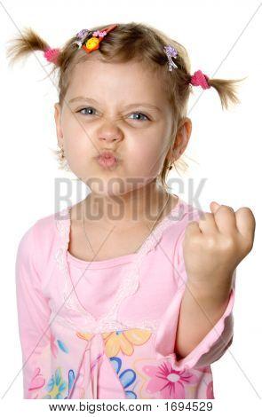 Fun Angry Girl