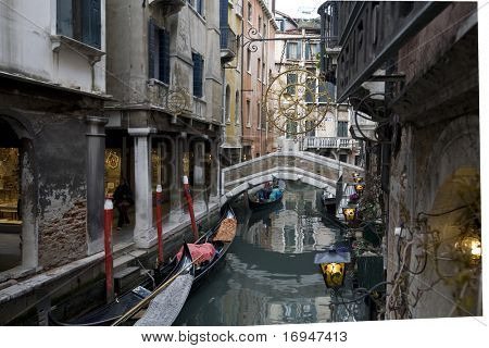 Romantic canal in center of Venice