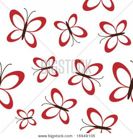 nahtlose rote Schmetterlinge