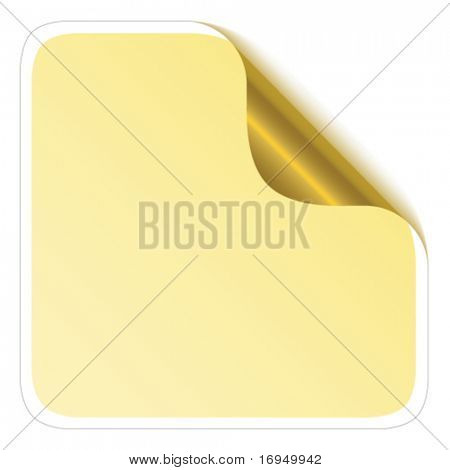 sticker corner with metallic backs
