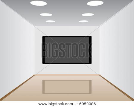 vector room with a plasma tv