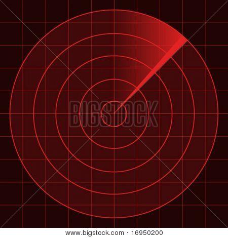 pantalla de radar de Vector