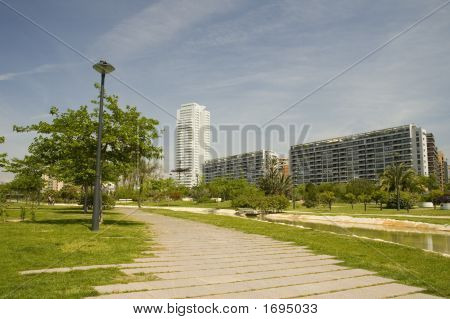 Citypark With Skyscraper