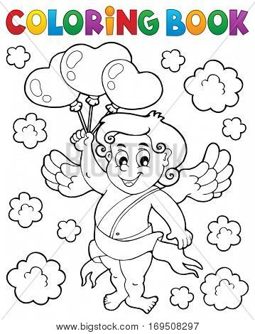 Coloring book with Cupid 6 - eps10 vector illustration.