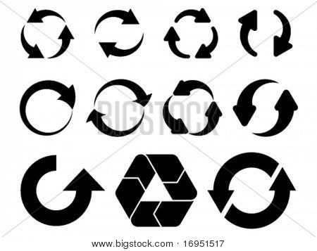 vector circular arrows