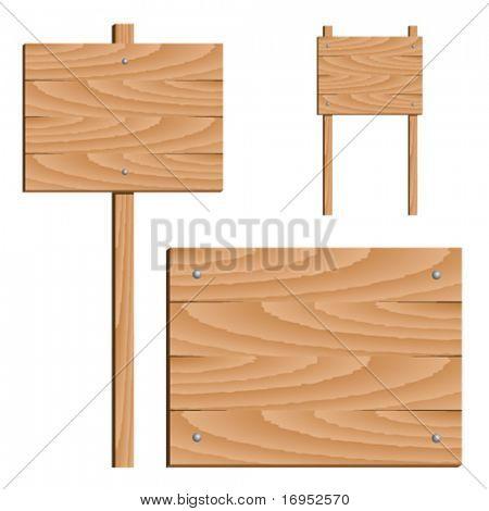 Vector firma madera