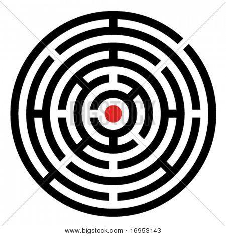 labirinto de vetor arredondado