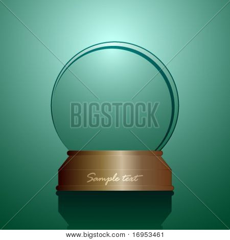 vector empty snow globe