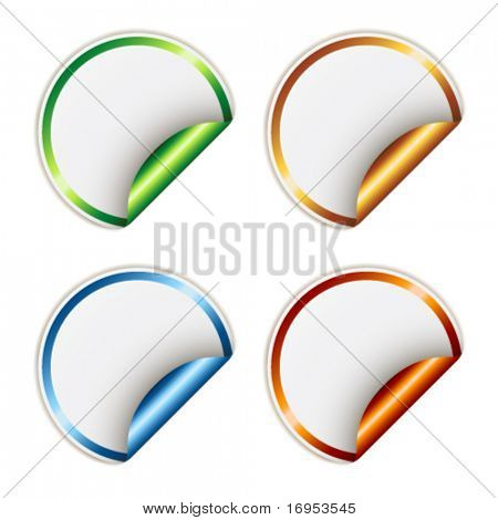 Vector stickers with metallic backs