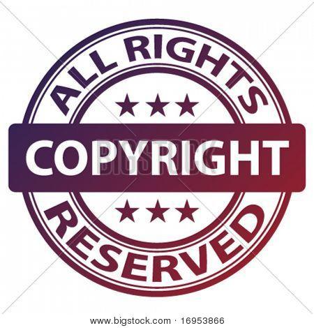 """selo de """"direitos autorais"""" puro vetor"""