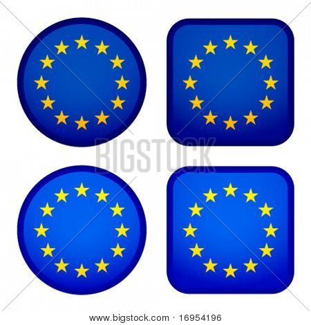 Vector EU flags