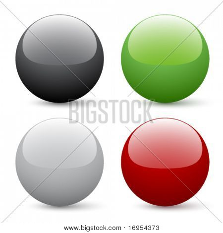 Vector glossy buttons
