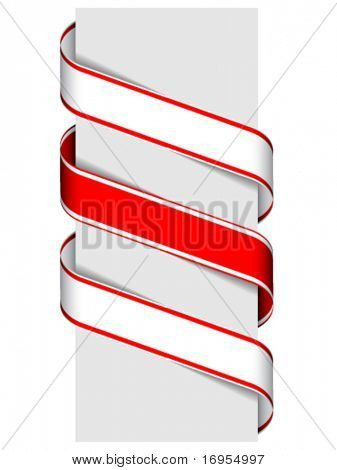 vector ribbon sign