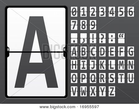 vector alphabet of mechanical panel