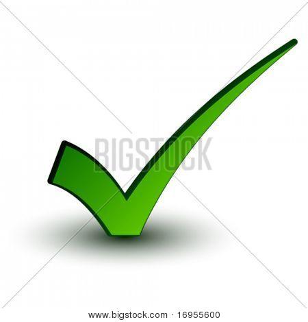 marca de seleção positiva vector verde